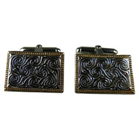 Image for Silver and Gold Plate Manuscript Cufflinks