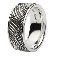 Image for Sterling Silver Celtic Wave Band Ring