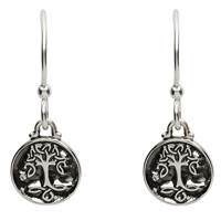 Image for Sterling Silver Celtic Tree of Life Earrings