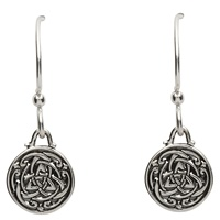 Image for Celtic Silver Trinity Knot Earrings