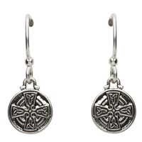 Image for Silver Celtic Cross Earrings