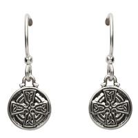 Image for Silver Celtic Cross Earrings