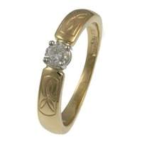 Image for Trinity Knot Solitaire Diamond Ring