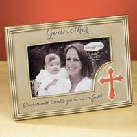Image for Godmother Photo Frame with Cross