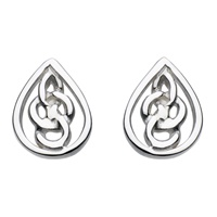Image for Heritage Sterling Silver Celtic Teardrop Studs