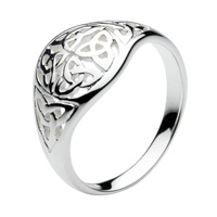 Image for Sterling Silver Heritage Round Domed Knots Celtic Ring