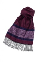 Image for Calzeat Celtic Bird Berry Wool Scarf