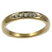 Image for 14k Yellow Gold Trinity Diamond Wedding Ring