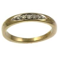 Image for 14k Yellow Gold Trinity Diamond Wedding Ring