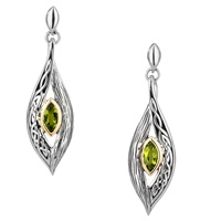 Image for Keith Jack Elven Eternity Knot and Bark Peridot Earrings