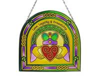 Image for Stained Glass Claddagh Ring 16 cm Arch Panel