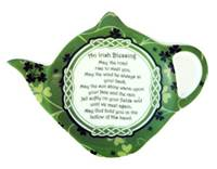 Image for Irish Blessing Shamrock Garden Teabag Holder