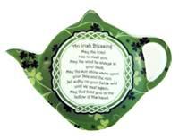 Image for Irish Blessing Shamrock Garden Teabag Holder