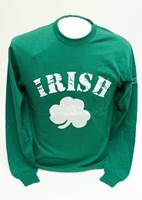 Image for Donegal Bay Irish Long Sleeve Green Shamrock T-Shirt