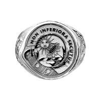 Image for Gents Scottish Clan Heraldry Ring, Hollow