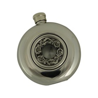 Image for Irish Whiskey Flask with Glass Center, Kells