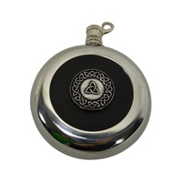Image for Round Trinity Flask with Leather