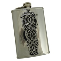 Image for Celtic Stainless Steel and Pewter Whiskey Flask