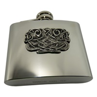Image for Celtic Stainless Steel and Pewter Flask, Kells