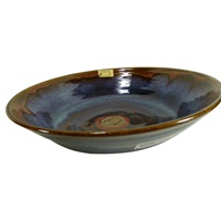 Image for Colm De Ris Irish Pottery Salad Dish Blue
