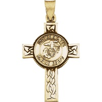 Image for United States Marine Corps Cross 14KT