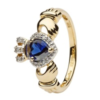 Image for 14K Empress Claddagh With Sapphire And Diamond