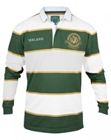 Image for Croker Green And White Striped Rugby Jersey