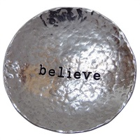 Image for Bright Metal Trinket Dish, Believe