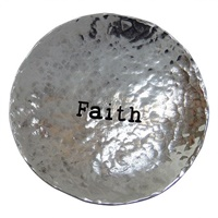 Image for Bright Metal Trinket Dish, Faith