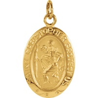 Image for 14KT Saint Christopher Medal