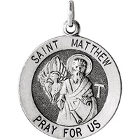 Image for Sterling Silver Oval St. Matthew Medal