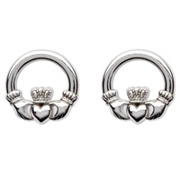 Image for Sterling Silver Claddagh Stud Earrings