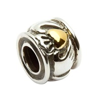 Image for Claddagh Bead with Gold Plate Heart