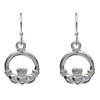 Image for Sterling Silver Claddagh Drop Earrings