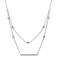 Image for Silver Elegant Necklace Pendant Adorned with White Swarovski Crystal