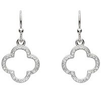 Image for Silver Swarovski White Crystal Earrings