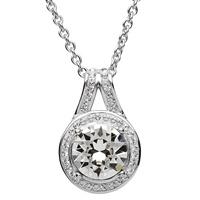 Image for Halo Silver Pendant Embellished with White Swarovski Crystal