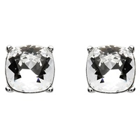 Image for Sterling Silver Swarovski Square Cut Stud Earrings
