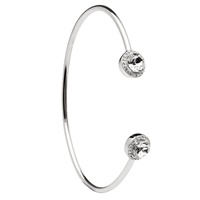 Image for Silver Halo Bangle Embellished with Swarovski Crystal