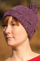 Bill Baber Hand Loomed Jura Hat, Cerise