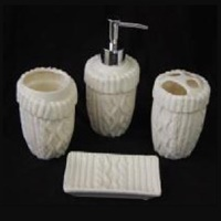 Image for Aran Bath Ensemble 4-Piece Set