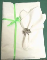 Image for Shamrock Embossed Tablecloth and Four Matching Napkins