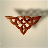 Image for Handcarved Wooden Celtic Triangle