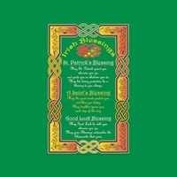 Image for Irish Tea Towel, 3 Irish Blessings