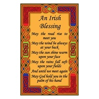 Image for Irish Tea Towel, Irish Celtic Blessing