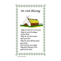 Image for IrishTea Towel, An Irish Blessing - Cottage