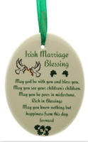 Image for Fine Bone China An Irish Marriage Blessing Oval Ornament