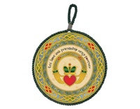 Image for Royal Tara Irish Weave Claddagh Ring Rope Plaque
