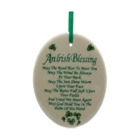 Image for Fine Bone China Oval Irish Blessing Ornament