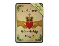 Image for Claddagh Ring Nostalgia Metal Sign, 21cm x 15cm